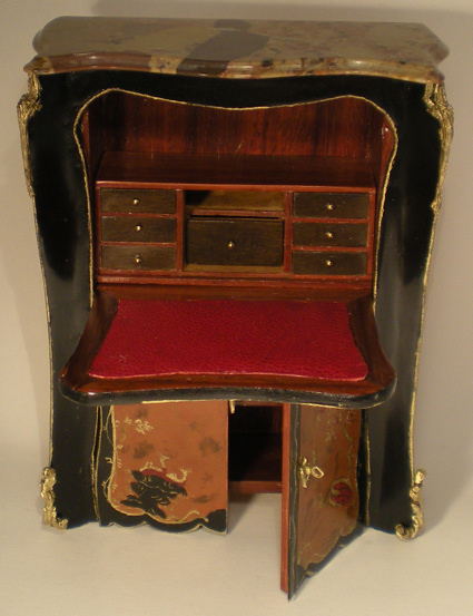 French Nouveau Secretaire by Herbillon - Click Image to Close